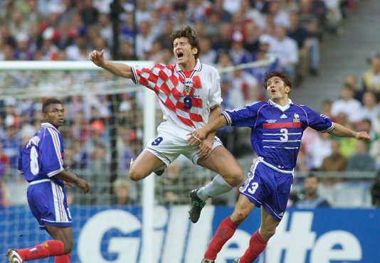 Davor Suker et Bixente Lizarazu lors de la demi-finale du Mondial 1998.