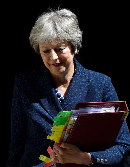 Theresa May, la première ministre britannique, le 6 juin, à Londres.