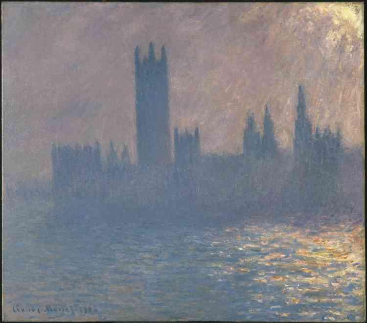«Lors de son exil, en1870, Monet était pauvre et méconnu. Son échec commercial lors de la première exposition de ses œuvres par Durand-Ruel avait suscité en lui le désir de revenir peindre à Londres, en artiste à présent couronné de succès. De l'automne1899 à janvier1901, il séjourna à plusieurs reprises au Savoy Hotel, observant la Tamise de la fenêtre de sa chambre.»