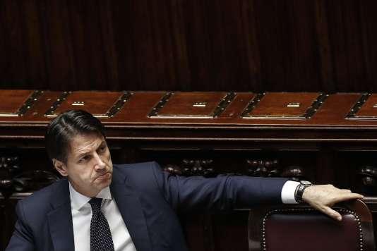 Giuseppe Conte à la Chambre des députés italiens, le 6 juin.