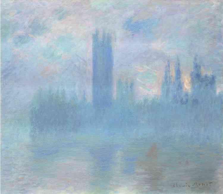 """«La série des vues du Parlement s'impose comme le testament artistique de l'exil londonien de Monet, et l'archétype des représentations de la Tamise. Elle fut exposée parmi les """"Vues de la Tamise à Londres"""" à la galerie parisienne de Durand-Ruel, en 1904, l'année où le dynamisme de Londres attirait une nouvelle vague de peintres français.»"""