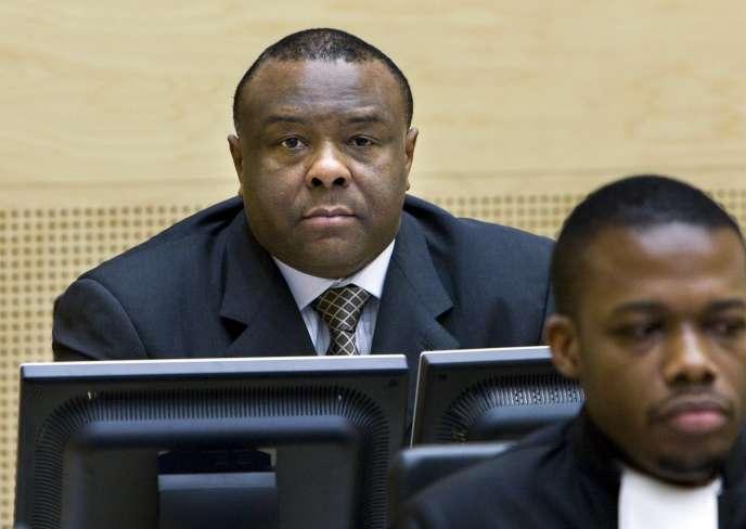 L'ancien vice-président congolais Jean-Pierre Bemba lors de son procès à la Cour pénale internationale de La Haye (Pays-Bas) le 2 décembre 2009.