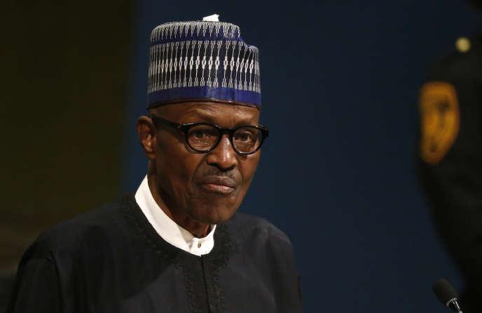 Le président nigérian Muhammadu Buhari, à New York, en septembre 2017.