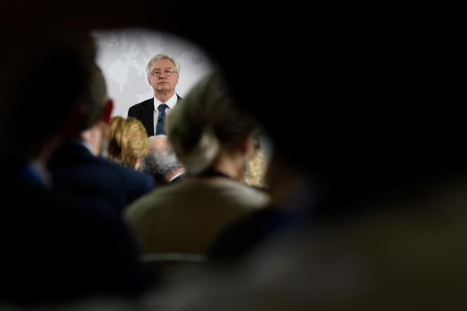 David Davis, ministre chargé du Brexit, le 6 juin à Londres.