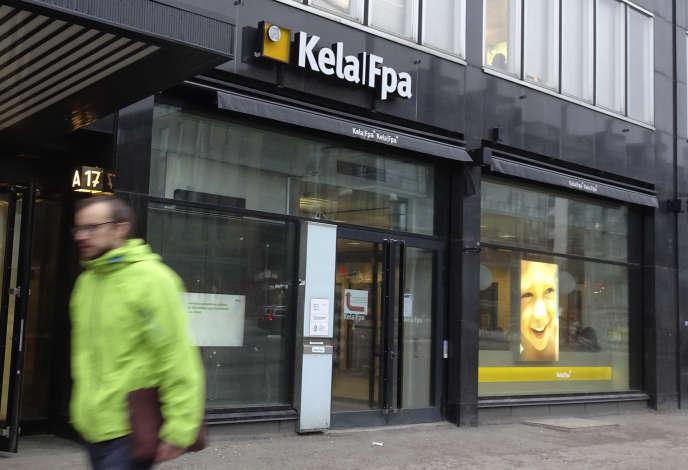 Un bureau de Kela, l'organisme de sécurité sociale finlandais, à Helsinki, en janvier 2017.