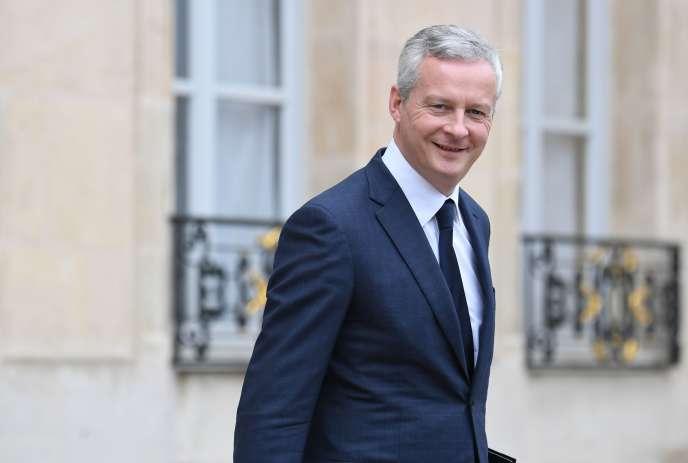 Le ministre de l'économie et des finances, Bruno Le Maire, fait partie des signataires de cette lettre destinée à Washington.