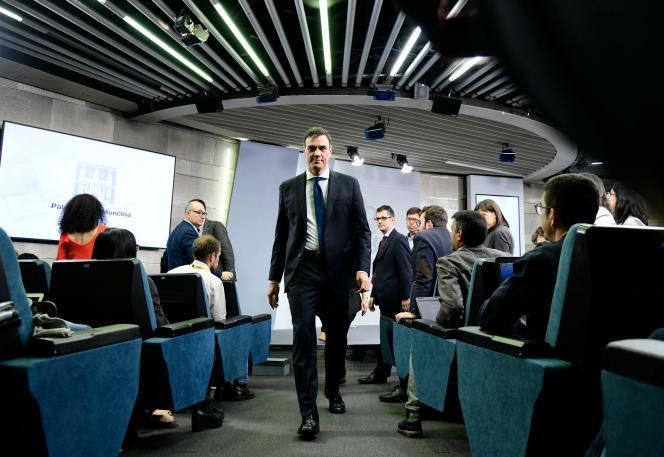 Pedro Sanchez après la présentation de son cabinet, à Madrid, le 6 juin.