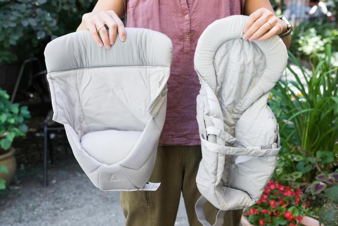 Certains porte-bébé intègrent un coussin volumineux pour s'adapter aux bébés en dessous d'un certain poids (moins de 7 kg, par exemple). Heureusement, notre favori n'en a pas besoin.