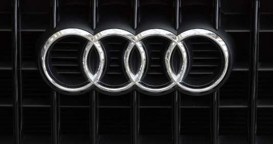 L'enseigne du constructeur automobile Audi, en Allemagne, le 22 mai 2014.