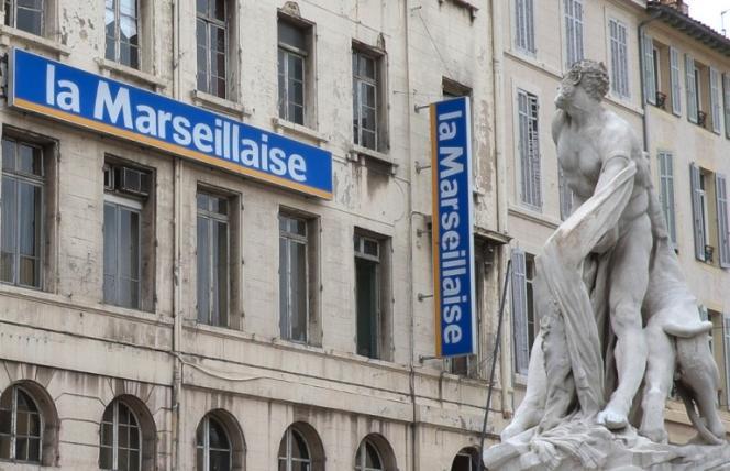 Les locaux du journalLa Marseillaiseà Marseille, le 17 novembre 2014.
