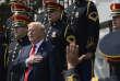 A la place de la rencontre avec les Eagles, Donald Trump a organisé un hommage à la bannière étoilée et à l'armée, à la Maison Blanche, le 5 juin.