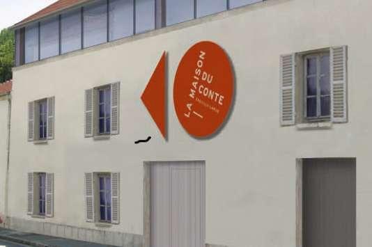 Vue de synthèse du projet de la nouvelle façade de La Maison du conte, à Chevilly-Larue.