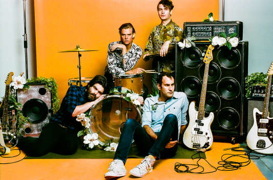 Le groupe post-punk canadien Preoccupations, à La Maroquinerie, à Paris, le 11 juin.