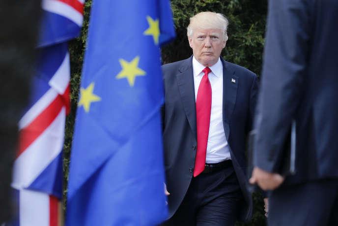 Donald Trump au précédent sommet du G7, à Taormine (Sicile), en mai 2017.