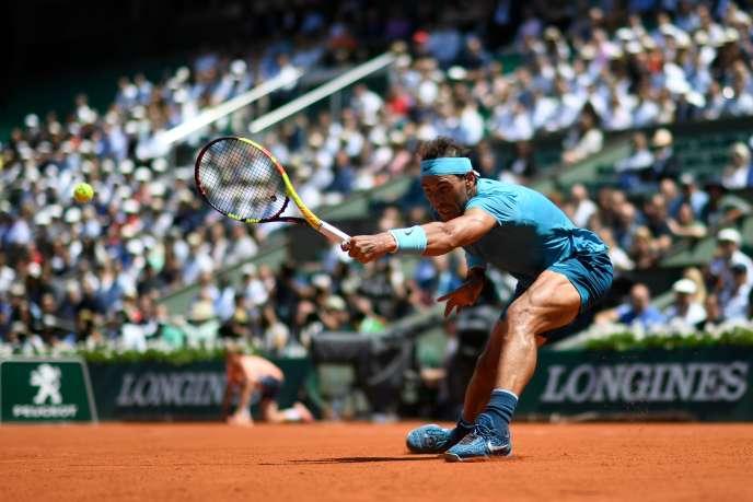 Rafael Nadal face à Diego Schwartzman AFP / CHRISTOPHE SIMON
