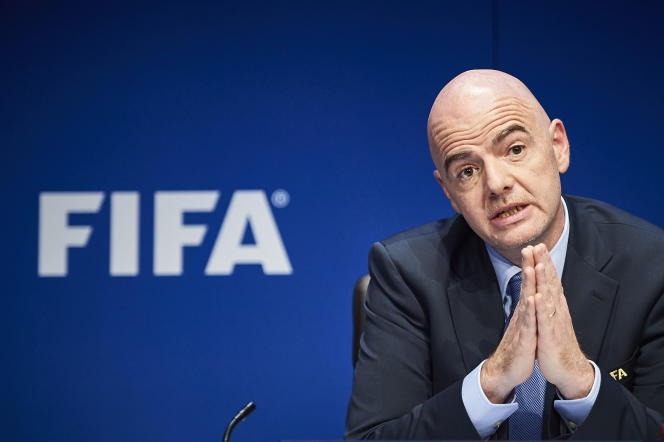 Le président de la FIFA, Gianni Infantino, le 18 mars 2016.