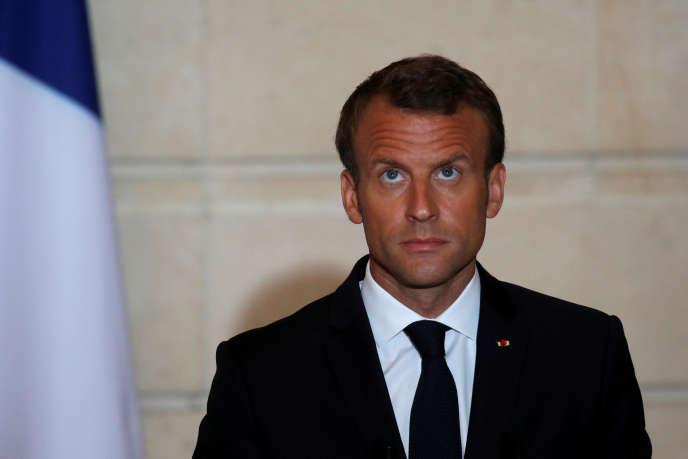 Emmanuel Macron, le 5 juin à l'Elysée.