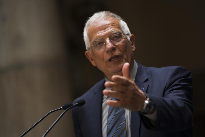 Le socialiste Josep Borrell, leministre espagnol des affaires étrangères, à Madrid, le 7 juin 2018.