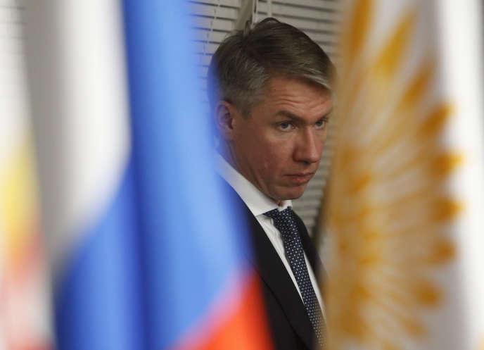 Alexeï Sorokine, directeur général du Comité d'organisation de Russie 2018, lors d'une conférence de presse, le 25 décembre 2017.