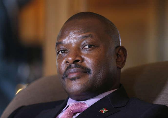 Pierre Nkurunziza en juin2014. Le président burundais est arrivé au pouvoir en2005.