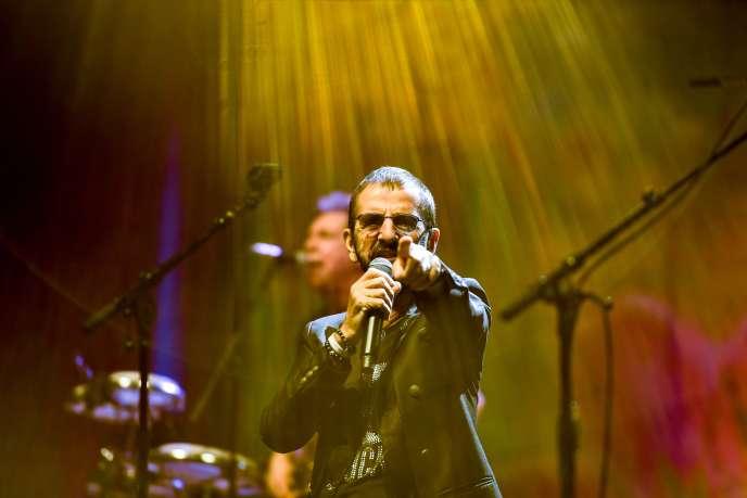 Ringo Starr sur scène, à l'Olympia, le 6 juin 2018.
