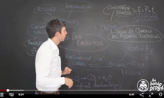 Extrait de la vidéo Les Bons Profs« Le Défi énergétique»
