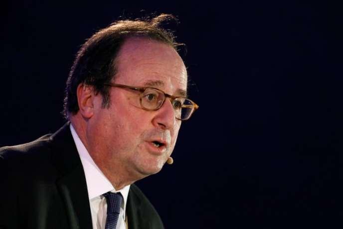 François Hollande à Rotterdam, aux Pays-Bas, le 3 avril 2018.