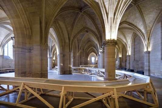 L'installation «Détournement», de Stéphane Thidet, à la Conciergerie de Paris.