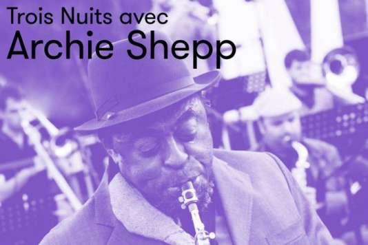 Détail de l'affiche des Trois nuits avec Archie Shepp.