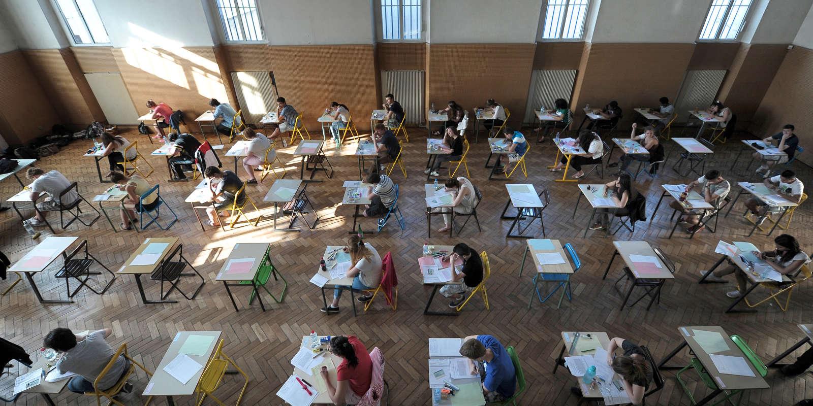 Epreuve de philosophie du bac 2013 au Lycéer Pasteur, à Strasbourg.