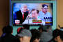 Annonce à la télévision sud-coréenne de la rencontre entre Donald Trump et Kim Jong-un, à Séoul, le 7 mars.
