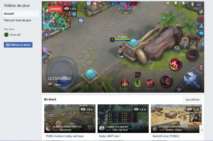 Le nouveau portail de Facebook rassemble les «streamers» de jeux vidéo.