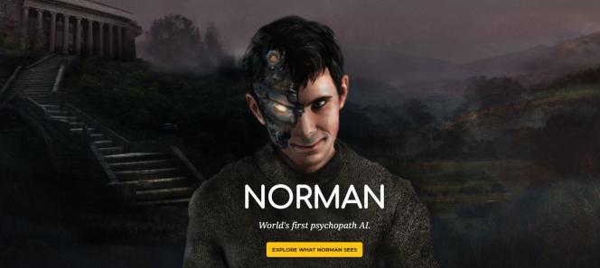 Les chercheurs du MIT qui ont lancé le projet« Norman» ont choisi de représenter leur programme d'intelligence artificielle avec cette illustration effrayante.