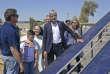 Laurent Wauquiez, président du parti Les Républicains à Qaraqosh, en Irak, le 6 juin.
