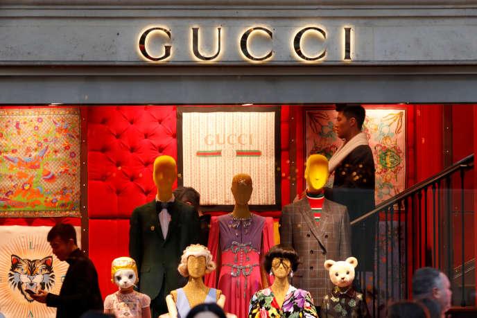 Une boutique Gucci à Paris, en décembre 2017.