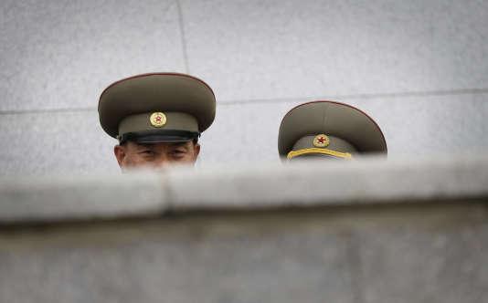 Pendant une parade placeKim-Il-Sung, à Pyongyang (Corée du Nord), en mai2016.