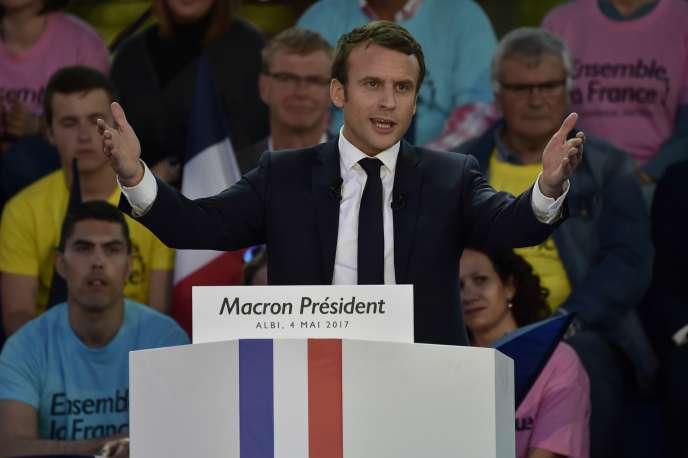 Emmanuel Macron, alors candidat à la présidentielle, le 4 mai 2017.