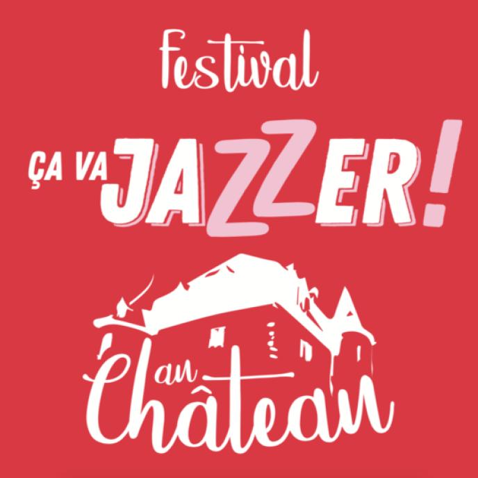 Affiche du festivalÇa va jazzer! ai Château de Salles, à Vézac.
