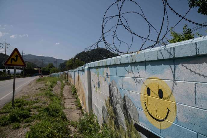 Un camp militaire en Corée du Sud, près de la zone démilitarisée entre les deux Corées, le 31 mai.