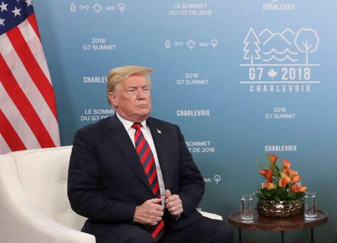 Donald Trump à La Malbaie (Canada) pour le G7, le 8 juin 2018.