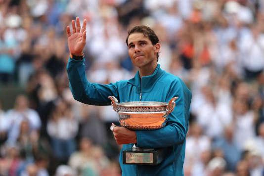 Rafael Nadal, après son onzième titre à Roland-Garros, le 10 juin 2018.