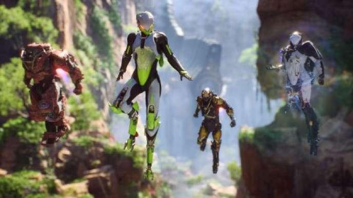 Dans «Anthem», quatre joueurs vêtus d'exosquelettes fantaisistes explorent des planètes aux paysages enchanteurs et à la faune hostile.