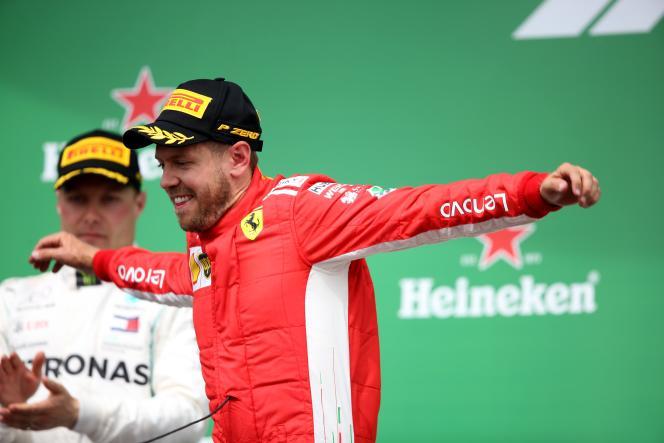 Sebastian Vettel a gagné le Grand Prix du Canada le 10 juin.