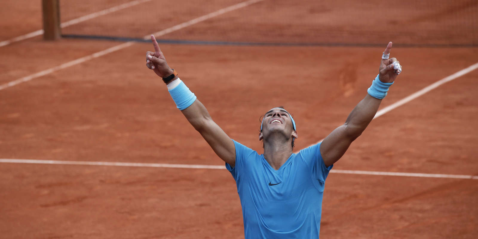 Rafael Nadal, onze fois vainqueur porte d'Auteuil.