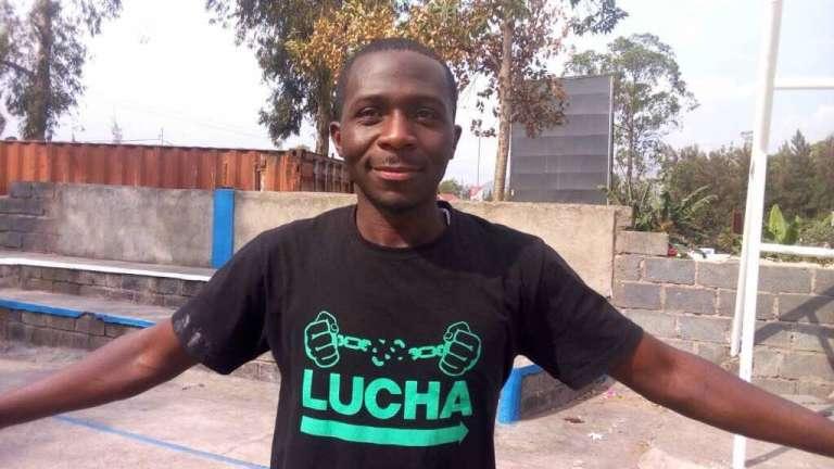 Photo deLuc Nkulula postée sur le compte Twitter du mouvement citoyen Lucha, dont il était l'un des fondateurs, le 10juin 2018 à l'occasion de l'annonce de sa mort.