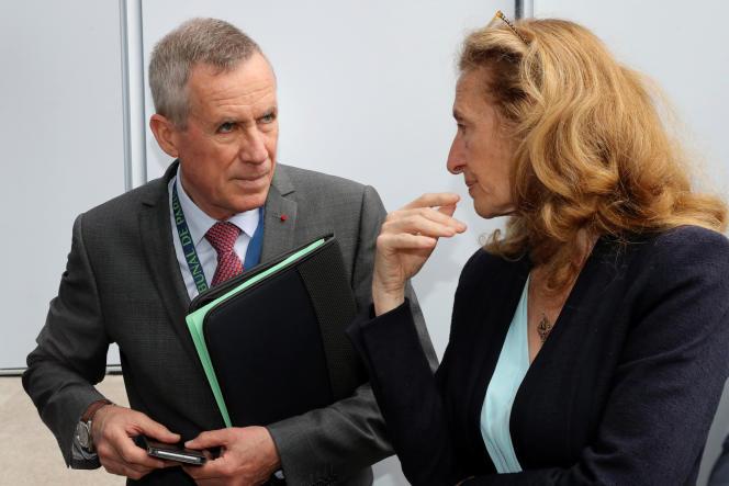 Francois Molins, procureur de la République, etNicole Belloubet, ministre de la justice, à Paris le 11juin.