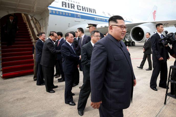 Le dirigeant nord-coréen, Kim Jong-un, arrrive à Singapour dimanche 10 juin.