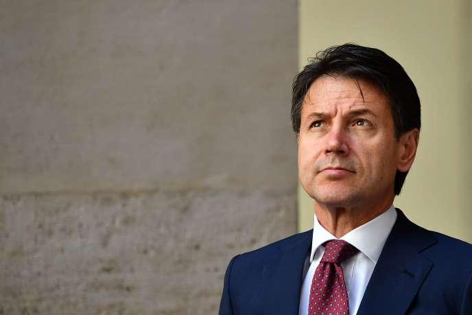 Le premier minitre italienGiuseppe Conte, à Rome le 11 juin.