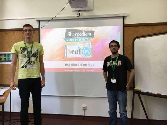 Lundi 4 juin, des élèves d'In'Tech à Agenprésentent leur projet d'application de réservation de billets pour le festival de Pujols.