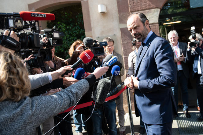 Le 18 mai, à Strasbourg, le premier ministre, Edouard Philippe, a recadré le ministre de l'intérieur, Gérard Collomb, sur la limitation à 80 km/h. D. Betzinger/Hans Lucas